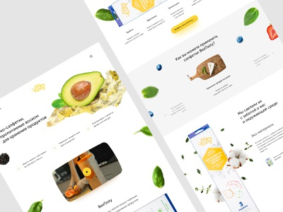 Website to waxed napkins company wax bee food and drink landing ui creative website web russia design