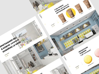 Coffee shop website   2016 ui sweet product cafeteria coffee cafe bar website web russia design creative