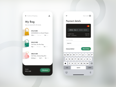 DailyUI #2. The Mobile Cart Checkout