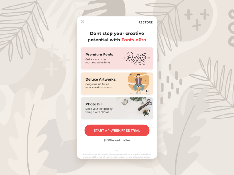Promotion screen in marketplace subscription minimal illustration shutterstock stock list payments popup marketplace market promotion banner art mobile app application app dayliui ux ui