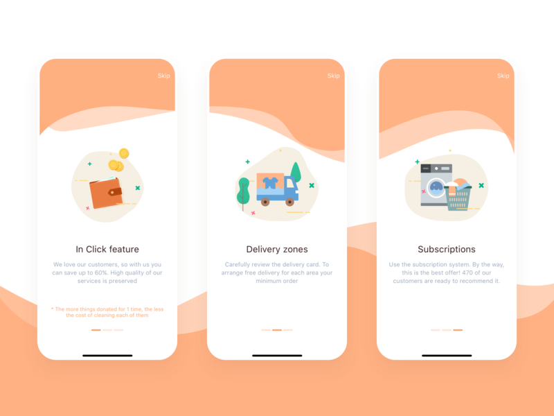 Onboarding In Click App onboarding screen onboarding ui flat illustrator vector illustration icons character brand sketch mobile ios icon app ui ux minimal design clean branding