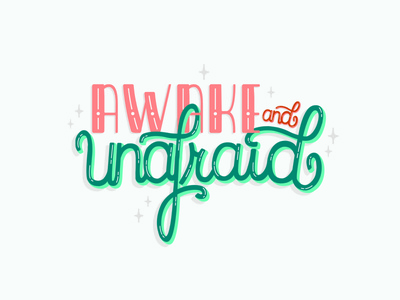awake and unafraid digital design designer adobe handlettering my chemical romance song lyrics ux ui friendly design illustrator illustration typography lettering