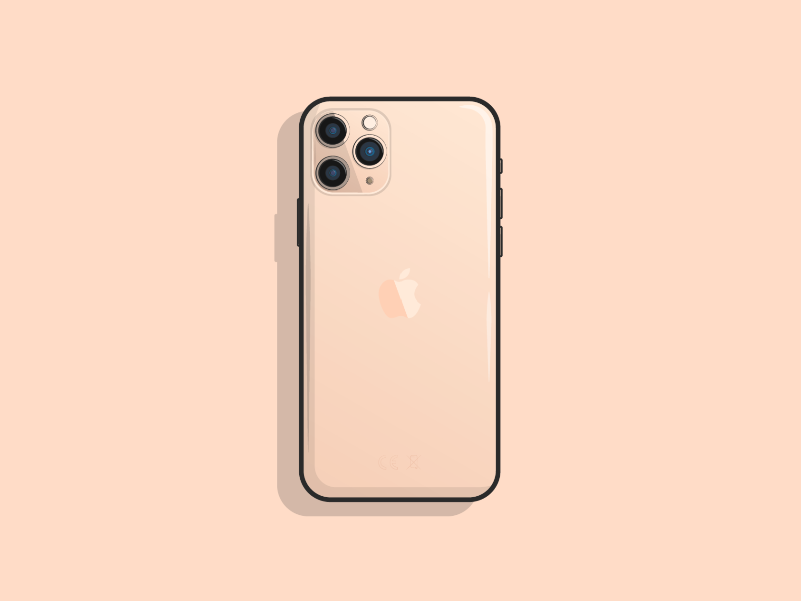Iphone 11 Wallpaper Outline