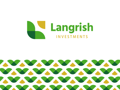 Langrish Investments green investing fresh plant icon square geometric pattern agriculture simple clean logo