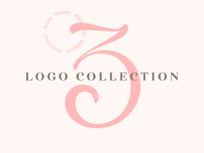 Logo Collection 3 luxurious luxury elegant feminine sweet cute project behance collection logo