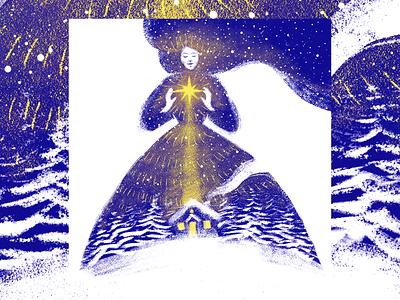 Happy Holidays! night december home light starlight star snow winter happy holidays christmas marry christmas illustraion
