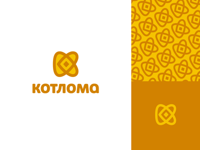 Kotloma pastry heart confectionery bakery branding pattern cookie icon k letter logo