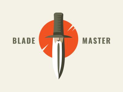 Blade Master v2 sapient sharp wise sage oldman hat beardman man blade knife face logo
