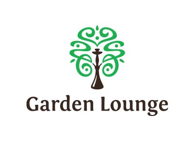 Garden Lounge bush lounge garden green tree bar shisha hookah logo