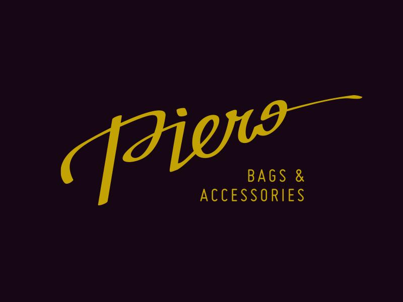 Piero free fashion feminine handlettering feather calligraphy lettering logo