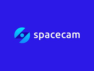 Spacecam modern sphere zigzag eye round space s letter logo