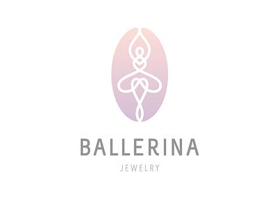 Ballerina jewelery feminine elegant delicate gentle logo line fine ballet ballerina