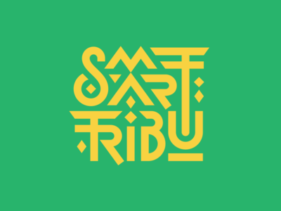 Smart Tribu smart geometric symbols intricate wild travel family totem tribal tribe lettering logo