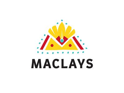 Maclays ethnic camp papua indonesian australian tribal letter m letter m travel agency travel logo