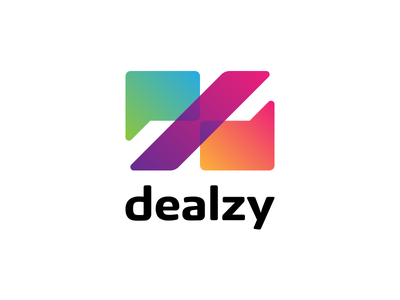 Dealzy slash youth gradient modern discount deal message percent chat chatbot logo