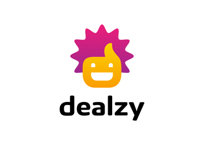 Dealzy youth thumbs up thumb smile logo head happy funny fun face discount deal