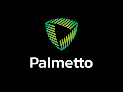 Palmetto cyber tech safety shield leaf palm it security logo