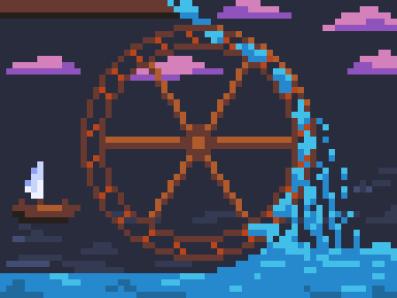 Waterwheel. Day #6