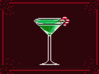 Holiday Grasshopper Cocktail