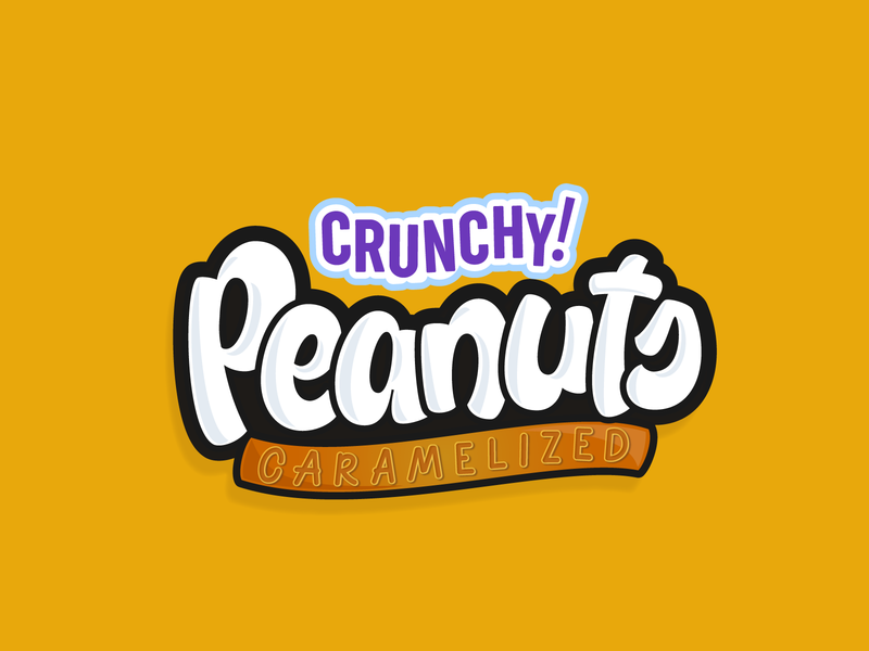 Peanuts peanuts package design packaging hand lettering logotype typography packaging design lettering