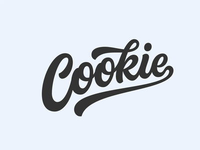Cookie 1 branding logo design hand lettering illustration vector logotype typography script lettering