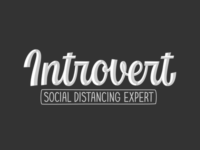 Introvert vector logotype hand lettering typography script lettering introvert