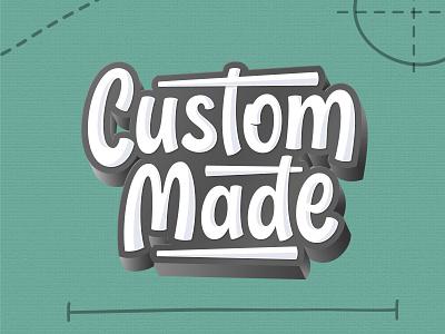 Custom Made logo design illustration vector hand lettering logotype typography script lettering custom custom made