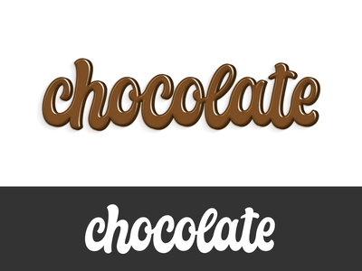 chocolate design illustration vector cool hand lettering logotype typography script lettering chocolate