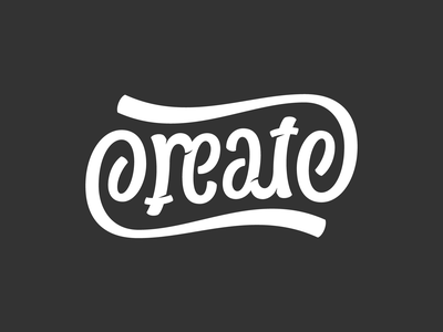 Create - ambigram vector hand lettering script typography lettering ambigram