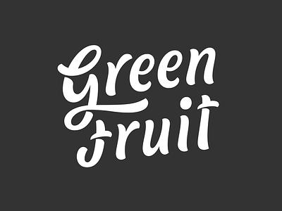 Green Fruit WIP ligature typography type branding logotype letters lettering fruit