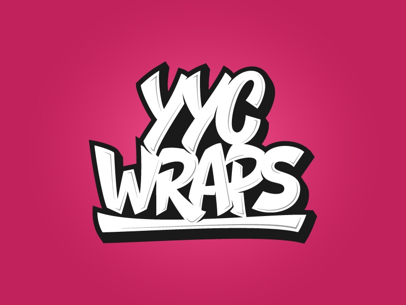 YYC Wraps hand lettering graffiti cool vector design illustration typography logotype lettering