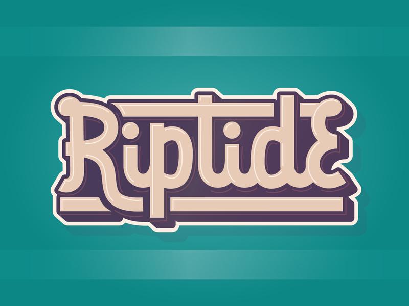 Riptide 2 typography monoline script monoline lettering