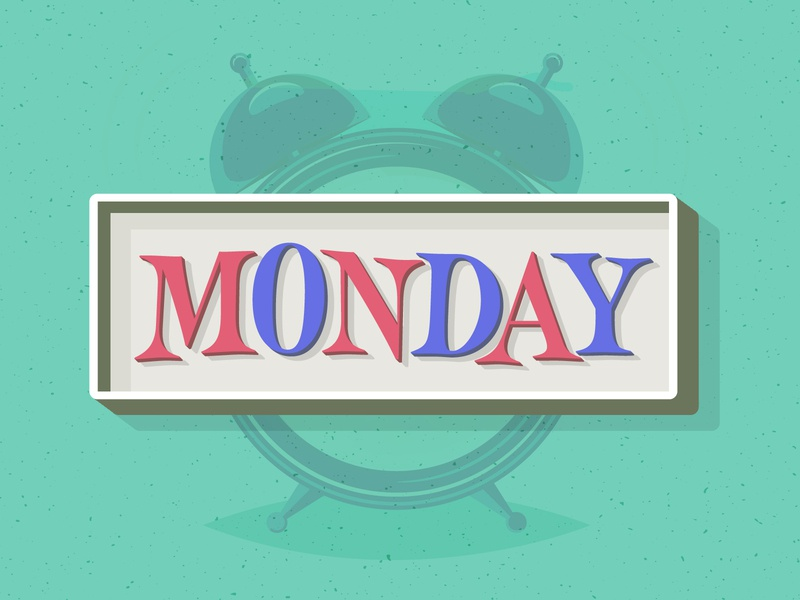 Monday cool hand lettering illustration design vector colors serif typography lettering monday