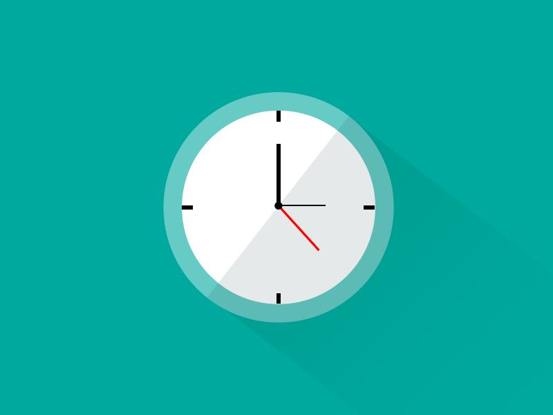 Clock dribbble