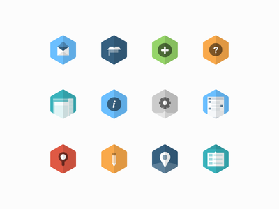 Flat Icons ui iconography minimal line vector illustration branding cryptocurrency icons flat simple clean hexagon