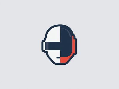 Daft Punk daft punk illustration vector noise minimal icon simple