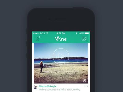 Vine iOS 7 ios 7 iphone vine simple app redesign video icons mobile minimal
