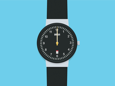 Braun Watch Illustration