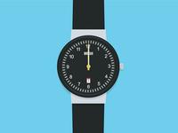 Braun Watch Illustration