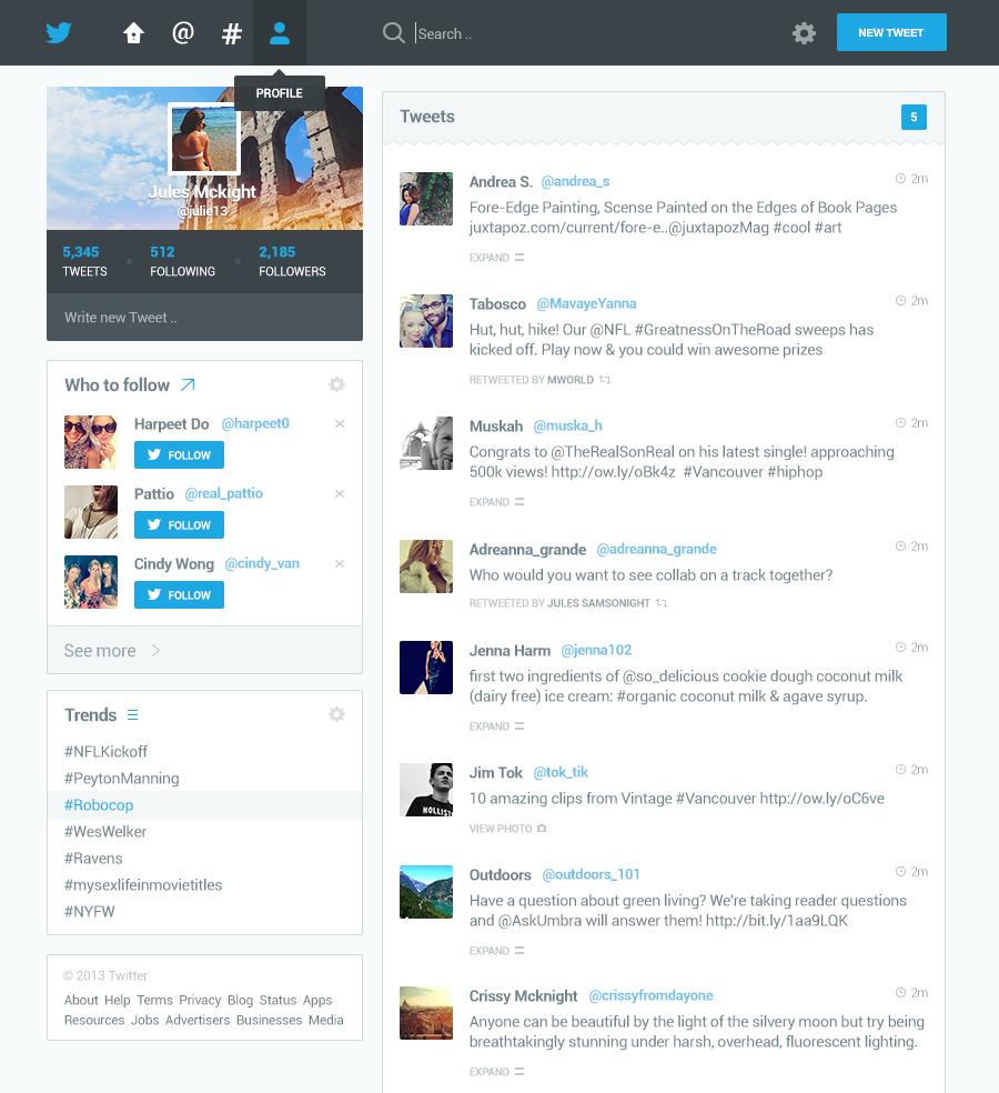 Twitter redesign big