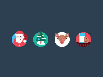 Xmas Icons illustration app icons flat icons icon set minimal christmas icons xmas icons icons xmas christmas simple santa