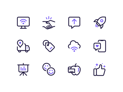 TV/Internet Icons shipped tag liked approved ux ui wifi delivery cloud tv cable internet icon set iconography icon designer icons