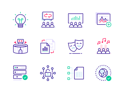 PredictHQ Icon Set spreadsheet graph minimal ui icons design people data predict icon set icons