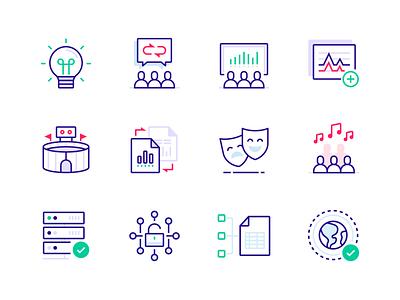 PredictHQ Icon Set spreadsheet graph minimal ui icons design people data predict icon set icons