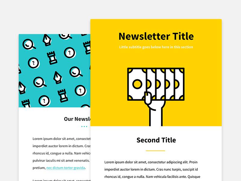 Newsletter letter web web design flat design email design digital marketing creative templates digital illustration email newsletter newsletter illustration