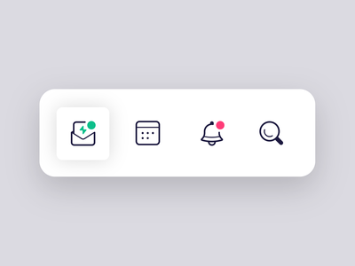 iOS App | Navigation Icons irl bell icon lines notifications calendar search discover ux ui app ios icon design icon set icons