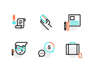 Business Icons fintech cryptocurrency bitcoin icon set icons card user money briefcase phone business