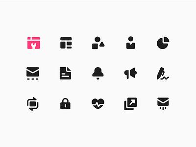 Sendlane Icons notification iconography sign chart email tools nav navigation icons solid icons icon design icon designer icon set ui icons