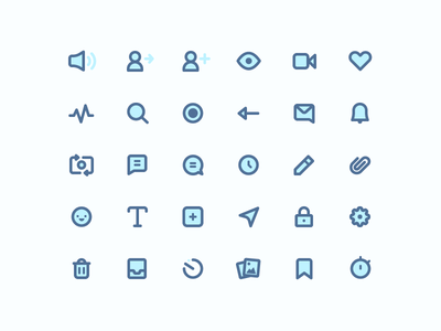 Icons two ton icons icon designer iconography icon set messages attachment activity camera add volume set icon