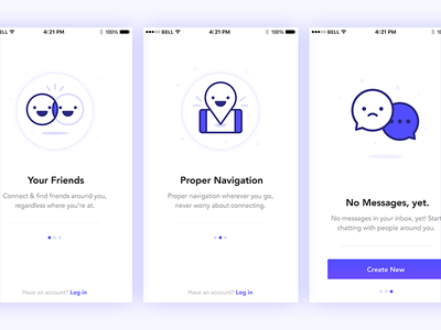 On-boarding & Empty State user interface ui ux app design app designer illustration ui empty state screens mobile app ios on-boarding